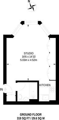 Large floorplan for Beaufort Gardens, Sloane Square, SW3