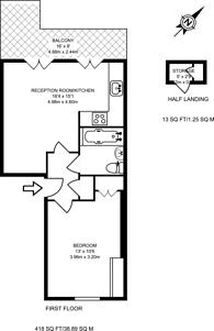 Large floorplan for Gloucester Street, Pimlico, SW1V