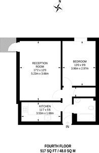 Large floorplan for Station Approach, Woking, GU22