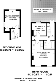 Large floorplan for Dawes Road, Fulham, SW6