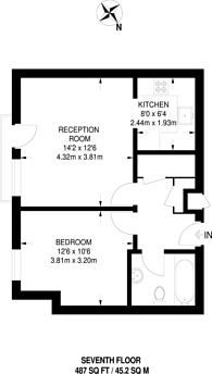 Large floorplan for Madison Heights, Hounslow, TW3