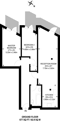 Large floorplan for Upton Heights, Forest Gate, E7