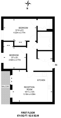 Large floorplan for Leapale Lane, Guildford, GU1