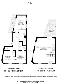 Large floorplan for Jamestown Road, Camden Town, NW1