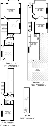 Large floorplan for Helix Road, Brixton, SW2