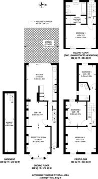 Large floorplan for Oldfield Road, Stoke Newington, N16