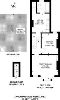 Large floorplan for Ashcombe Street, South Park, SW6