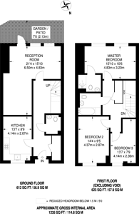 Large floorplan for Fisher Close, Canada Water, SE16