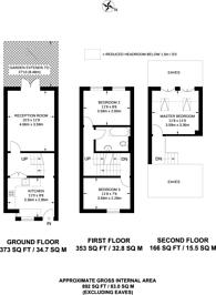 Large floorplan for Vallance Road, Bethnal Green, E2