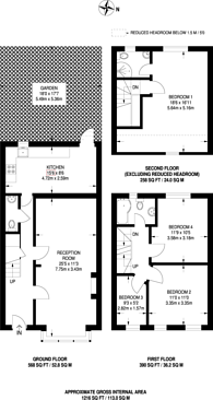 Large floorplan for Oster Terrace, Walthamstow, E17