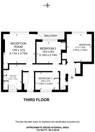 Large floorplan for Staplefield Close, Streatham Hill, SW2