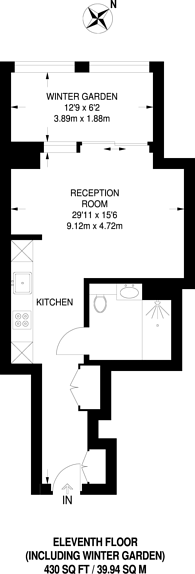 Large floorplan for Dollar Bay Point, Canary Wharf, E14
