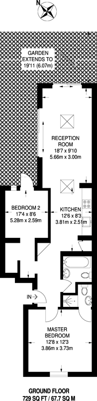 Large floorplan for Holloway, Holloway, N7