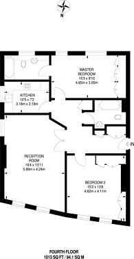 Large floorplan for Parr Place, Chiswick, W4