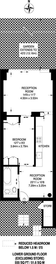 Large floorplan for Leighton Road, Kentish Town, NW5
