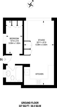 Large floorplan for Welllesley Court, Maida Vale, W9