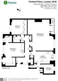 Large floorplan for Portland Place, Marylebone, W1B