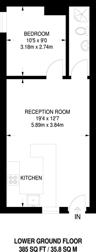 Large floorplan for North End Road, West Kensington, W14