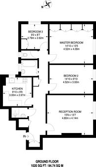 Large floorplan for Brondesbury Park, Brondesbury Park, NW6