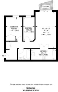 Large floorplan for Riverside West, Wandsworth, SW18