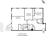 Large floorplan for Meridian Place, Docklands, E14