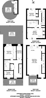 Large floorplan for Highbury Grove, Islington, N5