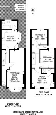Large floorplan for Dongola Road, Plaistow, E13