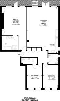 Large floorplan for Marlborough Place, St John's Wood, NW8