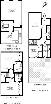 Large floorplan for Bevin Square, Tooting Bec, SW17