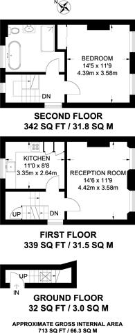 Large floorplan for Platt Street, King's Cross, NW1