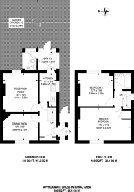 Large floorplan for Downderry Road, Bromley, BR1