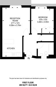 Large floorplan for South Wharf Road, Paddington, W2