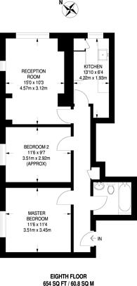 Large floorplan for Clifton Road, Islington, N1