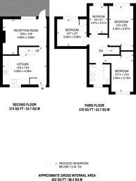 Large floorplan for Colebrooke Row, Islington, N1