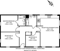 Large floorplan for Station Approach, South Ruislip, HA4