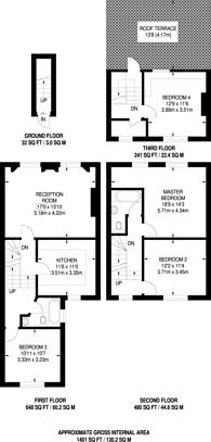 Large floorplan for Haldane Road, Fulham Broadway, SW6