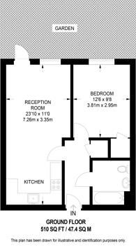 Large floorplan for Elswick Street, Sands End, SW6