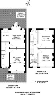 Large floorplan for Langdale Road, Thornton Heath, CR7