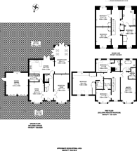 Large floorplan for Chadwick Place, Long Ditton, KT6