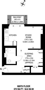 Large floorplan for Pan Peninsula Square, Canary Wharf, E14
