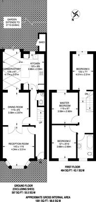 Large floorplan for Landseer Road, Holloway, N19