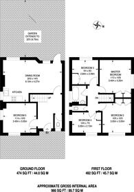 Large floorplan for Glen Albyn Road, Southfields, SW19