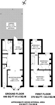 Large floorplan for Clacton Road, Walthamstow, E17