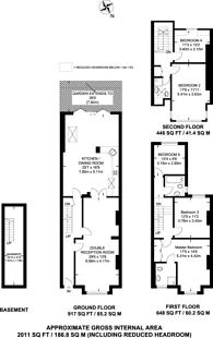 Large floorplan for St Marys grove, Grove Park, W4