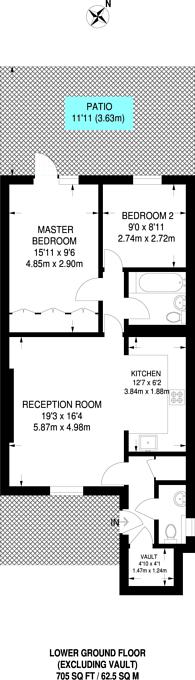 Large floorplan for Alma Square, St John's Wood, NW8