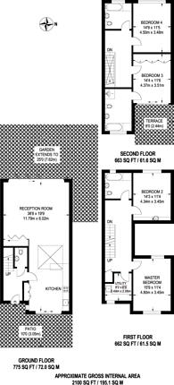 Large floorplan for Melody Lane, Highbury, N5