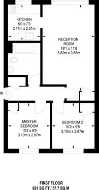Large floorplan for Stubbs Drive, South Bermondsey, SE16