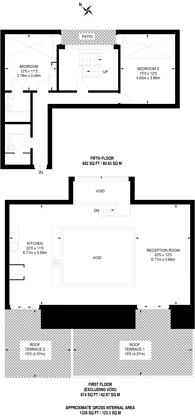 Large floorplan for Highbury Stadium Square, Highbury and Islington, N5