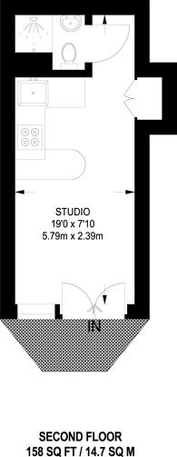 Large floorplan for Fairholme Road, West Kensington, W14