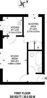 Large floorplan for Abbey Lane, Stratford, E15
